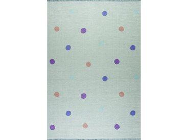 Kinderteppich Love You Dots in Mint