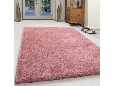 Shaggy-Teppich Bixby in Rose Farben