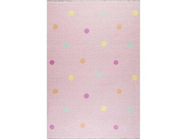 Kinderteppich Love You Dots in Rosa