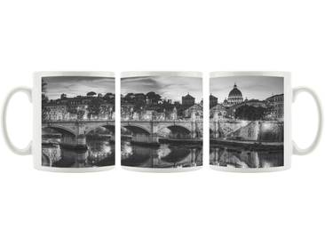 Kaffeebecher Rom an der Tiber in Richtung Kathedrale St. Peter