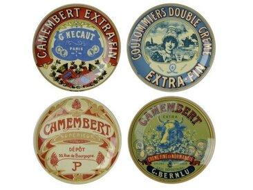 4-tlg. Vorspeisenteller-Set Camembert