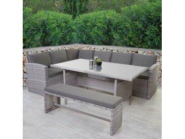9-Sitzer Lounge-Set Cornwall aus Polyrattan mit Polster