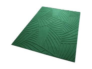 Handgetufter Teppich Palmia in Grün