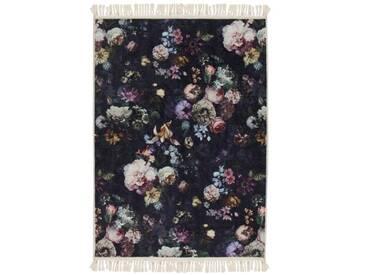 Teppich Fleur in Nachtblau