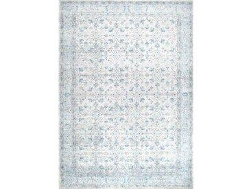 Wollteppich Pittwater in Weiß/Grau