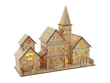 Dekorationsfigur Holzkirche