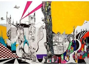 Gerahmte grafische Kunst Cloudcity, 2009 von Myrtia Hellner