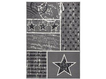 Teppich Patchwork Stars in Grau