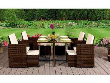 8-Sitzer Gartengarnitur Lyric mit Polster