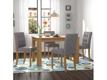Essgruppe Elbeni mit 4 Stühlen