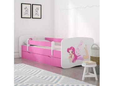 Kinderbett Cerna mit Matratze und Schublade