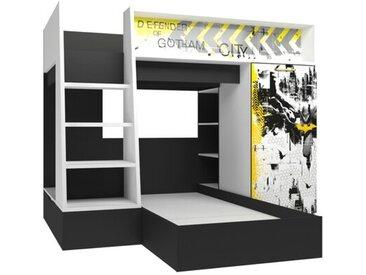 L-förmiges-Etagenbett Gish mit Möbel-Set, 90 x 200 cm