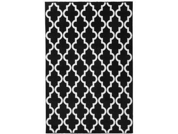 Teppich My Black and White in Schwarz/Weiß