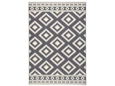 Teppich Ethno in Grau