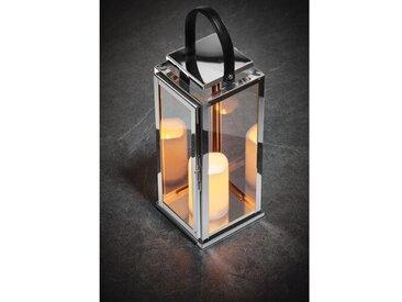 Laterne Zofia aus Edelstahl und Glas