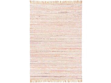 Handgefertigter Kelim-Teppich Hickson in Orange