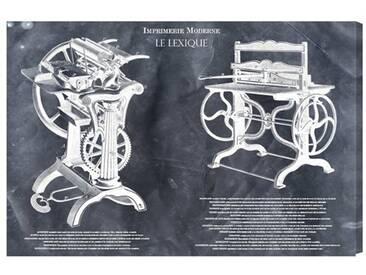 "Leinwandbild ""Imprimerie Moderne Reversed von Art Remedy, Grafikdruck"