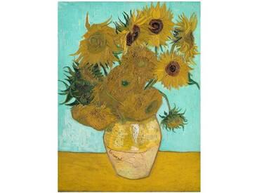 Leinwandbild Vase mit Sonnenblumen von Vincent Van Gogh