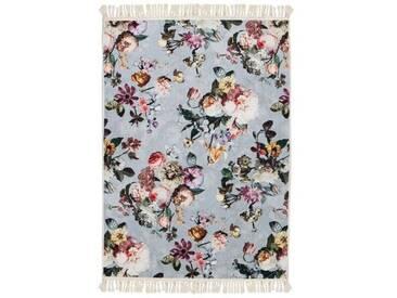 Teppich Fleur in Hellblau