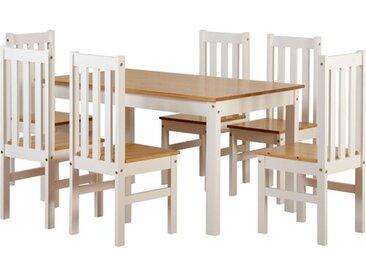 Essgruppe Bradmoor mit 6 Stühlen