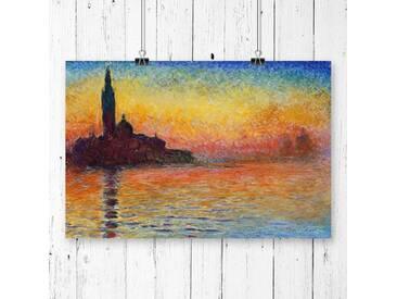 """Poster """"San Giorgio Maggiore at Dusk"""" von Claude Monet, Kunstdruck"""
