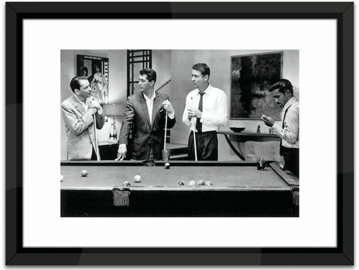The Rat Pack Play Pool Framed Photographic Prin...