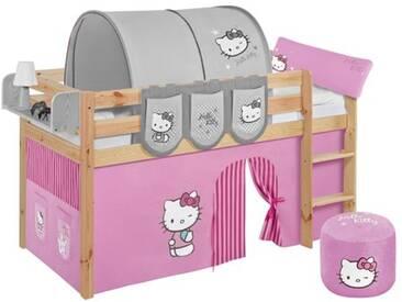Halbhochbett Hello Kitty mit Hochbettvorhang, 90cm x 200cm