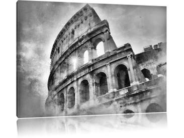 Leinwandbild Kolosseum Rom in Monochrom