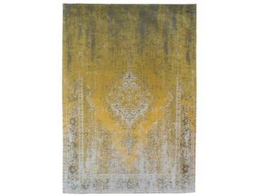 Flachgewebe-Teppich Fading World in Gelb/Grau