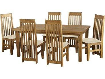 Essgruppe Archer mit 6 Stühlen