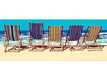 Poster Five Deck Chairs von Jonathan Sanders