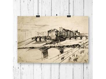 Poster Paris Sketch von James Abbott McNeill Whistler
