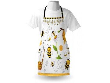 Schürze Bienen und Blumen