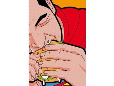 Leinwandbild Super Burger, Grafikdruck von Léon