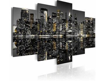 5-tlg. Leinwandbilder-Set Faszinierendes Nachtleben in New York