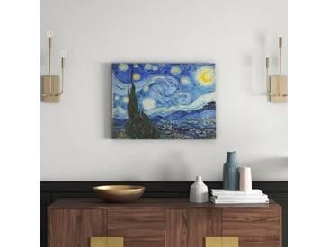 "Gerahmtes Poster ""The Starry Night, June 1889 von Vincent Van Gogh, Kunstdruck"