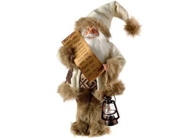 Dekorationsfigur Weihnachtsmann im Pelz