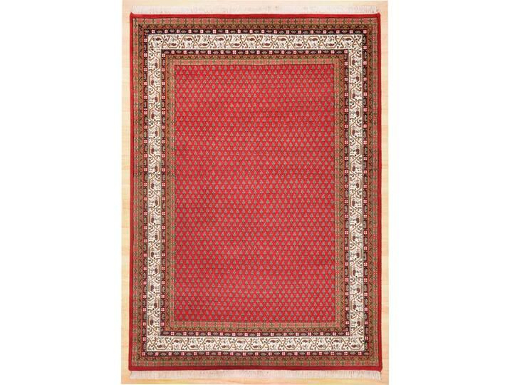 Handgefertigter Teppich Classic aus Wolle in Rot