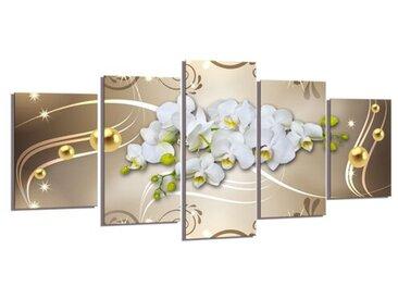 5-tlg. Leinwandbilder-Set Orchidee