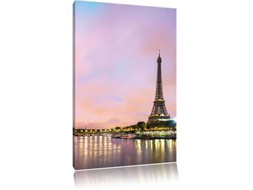 Leinwandbild Eifelturm Paris bei Nacht, Fotodruck