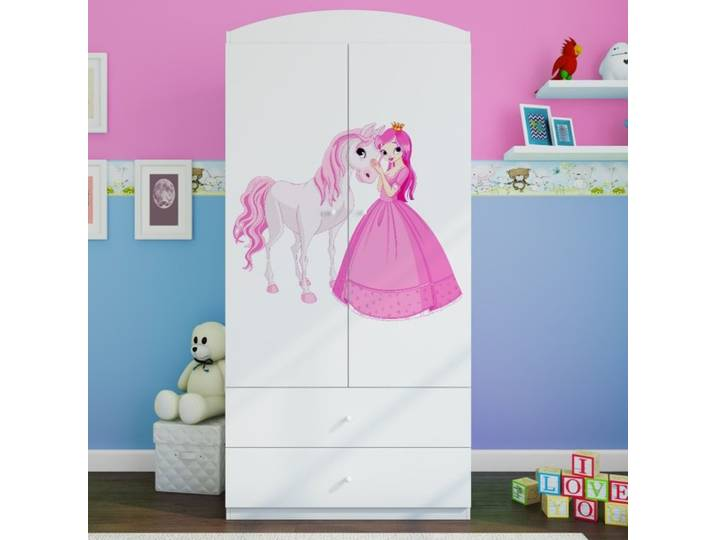 Kleiderschrank Princess & Pony Weiß