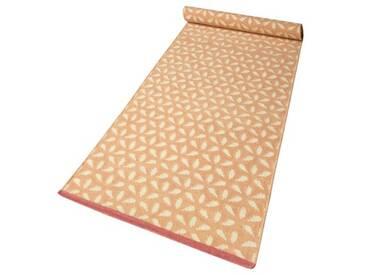 Handgefertigter Teppich Hanno aus Wolle in Orange