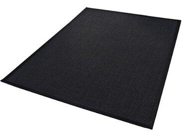 Sisal-Teppich Retta in Schwarz