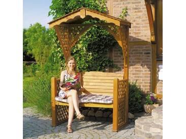 Rosenbogen mit Bank aus Massivholz