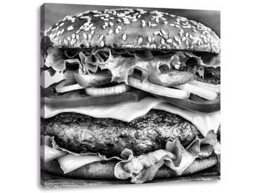 LeinwandbildHamburger Mc Donalds Cheesburger Burger Essen Fleisch