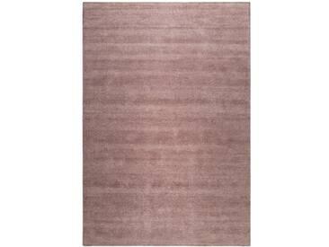 Handgefertigter Teppich Maya aus Baumwolle in Braun
