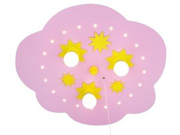 Deckenleuchte Sternenwolke Cleaves in Rosa / Gelb