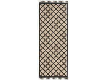 Flachgewebe-Teppich Intense in Schwarz/Beige
