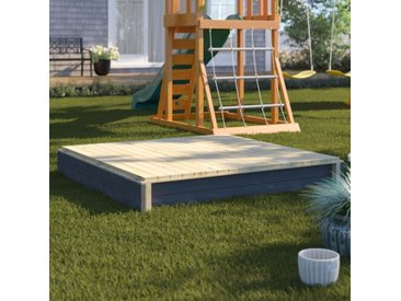 136 cm quadratischer Sandkasten Aksent mit Schutzbezug