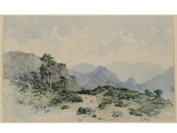 "Gerahmtes Poster ""Lake District Fells, Borrowdale, 1840-58"" von William James Blacklock, Kunstdruck"